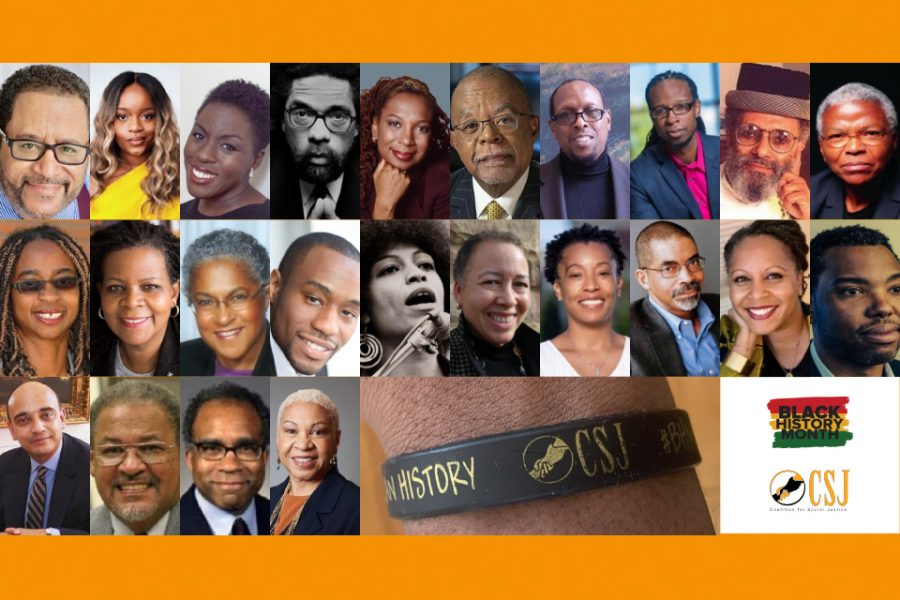 black luminaries featured in the coalition for social justice's 2021 Black History Month social media campaign